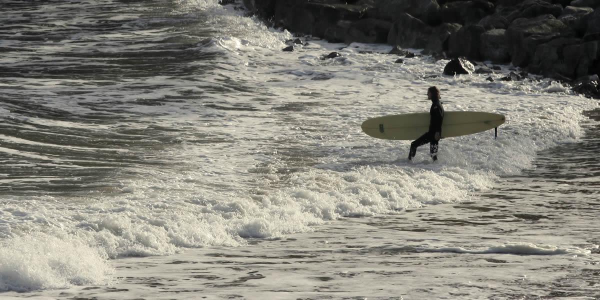 Surfing near Hide St Donats